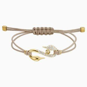 Swarovski power collection hook bracelet, beige